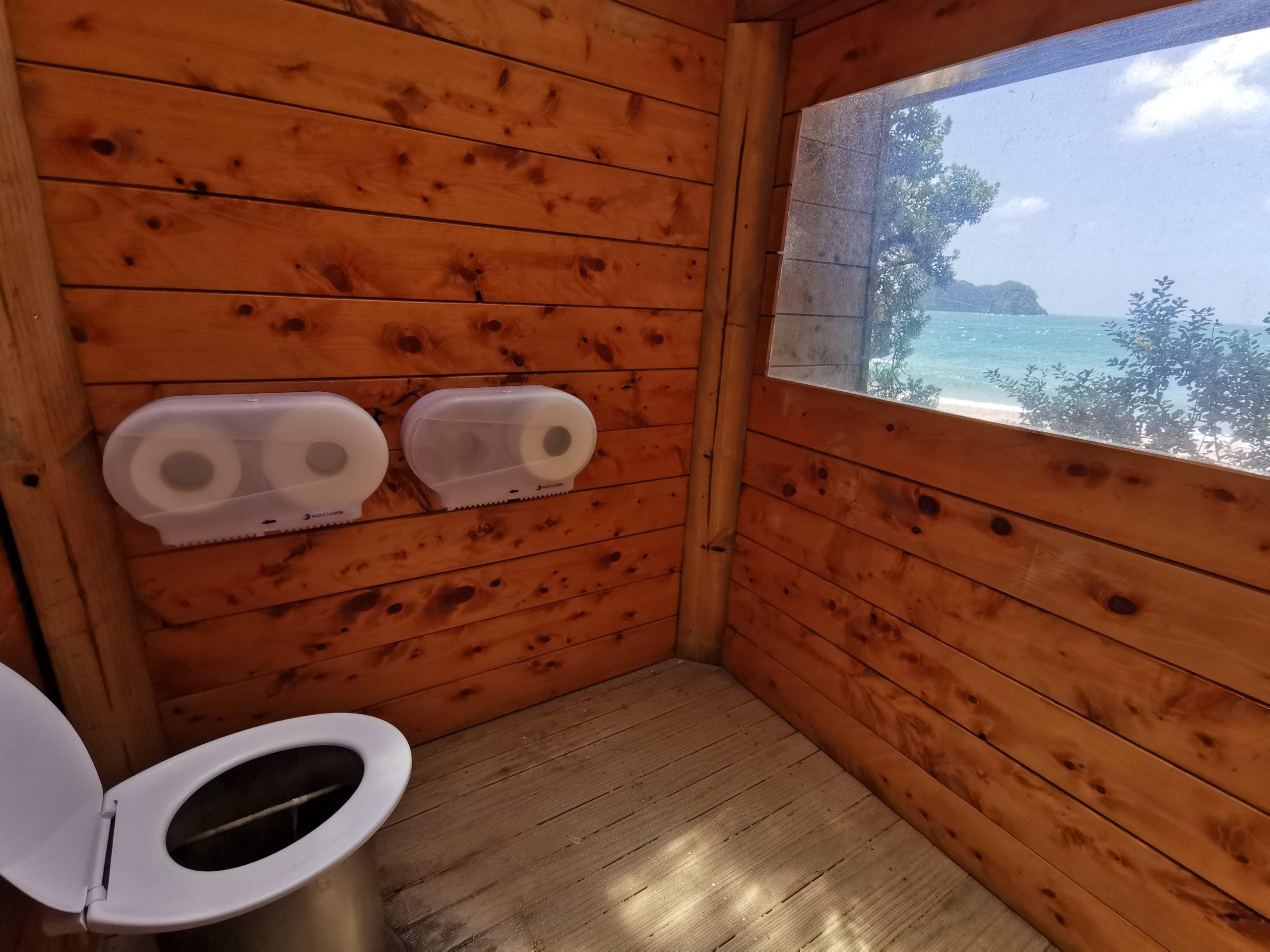 Toaleta z widokiem na plażę 🥰