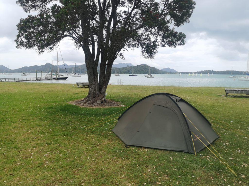 namiot w Nowej Zelandii