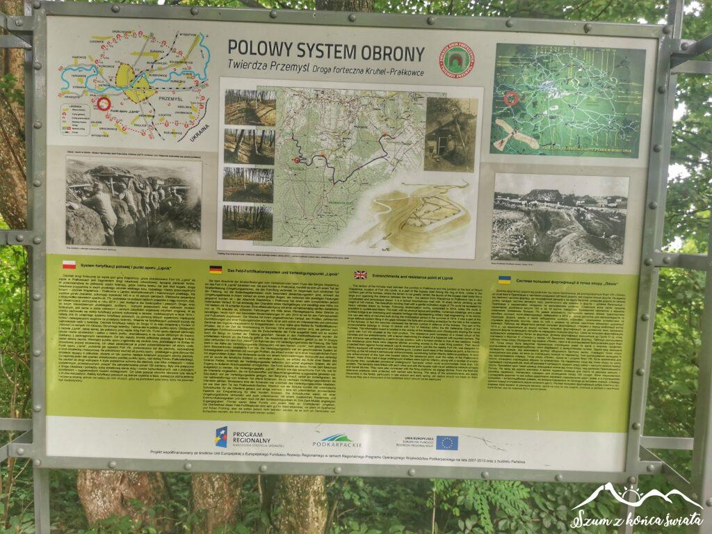Tablica informacyjna w drodze na Wapielnicę